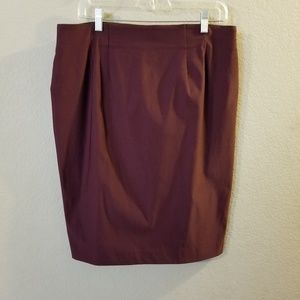 Ellen Womens New Burgundy Pull On Pencil Skirt NWT
